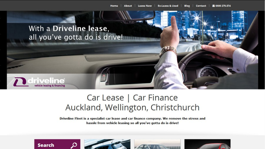 Screenshot of Driveline website